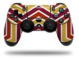 Vinyl Decal Skin Wrap compatible with Sony PlayStation 4 Dualshock Controller Zig Zag Yellow Burgundy Orange (PS4 CONTROLLER NOT INCLUDED)