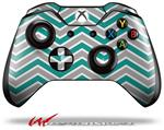 Decal Style Skin for Microsoft XBOX One Wireless Controller Zig Zag Teal and Gray - (CONTROLLER NOT INCLUDED)