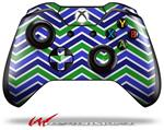 Decal Style Skin for Microsoft XBOX One Wireless Controller Zig Zag Blue Green - (CONTROLLER NOT INCLUDED)