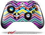 Decal Style Skin for Microsoft XBOX One Wireless Controller Zig Zag Colors 04 - (CONTROLLER NOT INCLUDED)