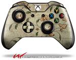 Decal Style Skin for Microsoft XBOX One Wireless Controller Flowers and Berries Orange - (CONTROLLER NOT INCLUDED)