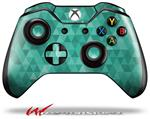 Decal Style Skin for Microsoft XBOX One Wireless Controller Triangle Mosaic Seafoam Green - (CONTROLLER NOT INCLUDED)