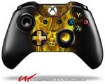 Decal Style Skin for Microsoft XBOX One Wireless Controller Flaming Fire Skull Yellow - (CONTROLLER NOT INCLUDED)