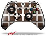 Decal Style Skin for Microsoft XBOX One Wireless Controller Squared Chocolate Brown - (CONTROLLER NOT INCLUDED)