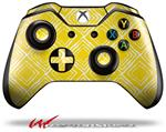 Decal Style Skin for Microsoft XBOX One Wireless Controller Wavey Yellow - (CONTROLLER NOT INCLUDED)