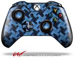 Decal Style Skin for Microsoft XBOX One Wireless Controller Retro Houndstooth Blue - (CONTROLLER NOT INCLUDED)