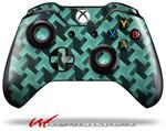Decal Style Skin for Microsoft XBOX One Wireless Controller Retro Houndstooth Seafoam Green - (CONTROLLER NOT INCLUDED)