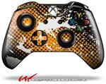 Decal Style Skin for Microsoft XBOX One Wireless Controller Halftone Splatter White Orange - (CONTROLLER NOT INCLUDED)