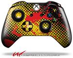 Decal Style Skin for Microsoft XBOX One Wireless Controller Halftone Splatter Yellow Red - (CONTROLLER NOT INCLUDED)