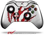 Decal Style Skin for Microsoft XBOX One Wireless Controller WraptorSkinz WZ on White - (CONTROLLER NOT INCLUDED)