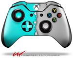 Decal Style Skin for Microsoft XBOX One Wireless Controller Ripped Colors Neon Teal Gray - (CONTROLLER NOT INCLUDED)