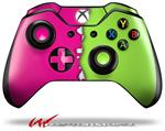 Decal Style Skin for Microsoft XBOX One Wireless Controller Ripped Colors Hot Pink Neon Green - (CONTROLLER NOT INCLUDED)