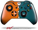 Decal Style Skin for Microsoft XBOX One Wireless Controller Ripped Colors Orange Seafoam Green - (CONTROLLER NOT INCLUDED)