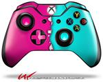 Decal Style Skin for Microsoft XBOX One Wireless Controller Ripped Colors Hot Pink Neon Teal - (CONTROLLER NOT INCLUDED)