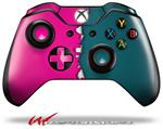 Decal Style Skin for Microsoft XBOX One Wireless Controller Ripped Colors Hot Pink Seafoam Green - (CONTROLLER NOT INCLUDED)