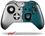 Decal Style Skin for Microsoft XBOX One Wireless Controller Ripped Colors Gray Seafoam Green - (CONTROLLER NOT INCLUDED)