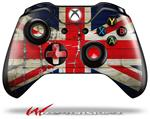 Decal Style Skin for Microsoft XBOX One Wireless Controller Painted Faded and Cracked Union Jack British Flag - (CONTROLLER NOT INCLUDED)