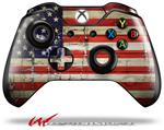 Decal Style Skin for Microsoft XBOX One Wireless Controller Painted Faded and Cracked USA American Flag - (CONTROLLER NOT INCLUDED)