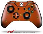 Decal Style Skin for Microsoft XBOX One Wireless Controller Anchors Away Burnt Orange - (CONTROLLER NOT INCLUDED)