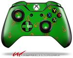 Decal Style Skin for Microsoft XBOX One Wireless Controller Anchors Away Green - (CONTROLLER NOT INCLUDED)