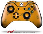 Decal Style Skin for Microsoft XBOX One Wireless Controller Anchors Away Orange - (CONTROLLER NOT INCLUDED)