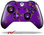Decal Style Skin for Microsoft XBOX One Wireless Controller Anchors Away Purple - (CONTROLLER NOT INCLUDED)