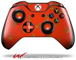 Decal Style Skin for Microsoft XBOX One Wireless Controller Anchors Away Red - (CONTROLLER NOT INCLUDED)