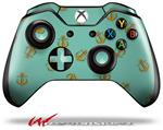 Decal Style Skin for Microsoft XBOX One Wireless Controller Anchors Away Seafoam Green - (CONTROLLER NOT INCLUDED)