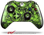 Decal Style Skin for Microsoft XBOX One Wireless Controller Scattered Skulls Neon Green - (CONTROLLER NOT INCLUDED)