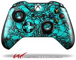 Decal Style Skin for Microsoft XBOX One Wireless Controller Scattered Skulls Neon Teal - (CONTROLLER NOT INCLUDED)