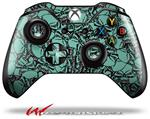 Decal Style Skin for Microsoft XBOX One Wireless Controller Scattered Skulls Seafoam Green - (CONTROLLER NOT INCLUDED)