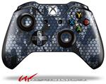 Decal Style Skin for Microsoft XBOX One Wireless Controller HEX Mesh Camo 01 Blue - (CONTROLLER NOT INCLUDED)