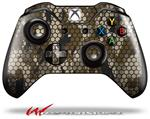 Decal Style Skin for Microsoft XBOX One Wireless Controller HEX Mesh Camo 01 Brown - (CONTROLLER NOT INCLUDED)
