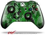 Decal Style Skin for Microsoft XBOX One Wireless Controller HEX Mesh Camo 01 Green Bright - (CONTROLLER NOT INCLUDED)