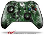 Decal Style Skin for Microsoft XBOX One Wireless Controller HEX Mesh Camo 01 Green - (CONTROLLER NOT INCLUDED)