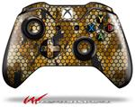 Decal Style Skin for Microsoft XBOX One Wireless Controller HEX Mesh Camo 01 Orange - (CONTROLLER NOT INCLUDED)
