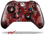 Decal Style Skin for Microsoft XBOX One Wireless Controller HEX Mesh Camo 01 Red Bright - (CONTROLLER NOT INCLUDED)