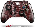 Decal Style Skin for Microsoft XBOX One Wireless Controller HEX Mesh Camo 01 Red - (CONTROLLER NOT INCLUDED)