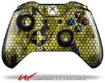 Decal Style Skin for Microsoft XBOX One Wireless Controller HEX Mesh Camo 01 Yellow - (CONTROLLER NOT INCLUDED)