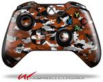Decal Style Skin for Microsoft XBOX One Wireless Controller WraptorCamo Digital Camo Burnt Orange - (CONTROLLER NOT INCLUDED)