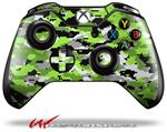 Decal Style Skin for Microsoft XBOX One Wireless Controller WraptorCamo Digital Camo Neon Green - (CONTROLLER NOT INCLUDED)