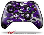 Decal Style Skin for Microsoft XBOX One Wireless Controller WraptorCamo Digital Camo Purple - (CONTROLLER NOT INCLUDED)