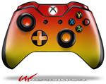 Decal Style Skin for Microsoft XBOX One Wireless Controller Smooth Fades Yellow Red - (CONTROLLER NOT INCLUDED)