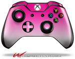 Decal Style Skin for Microsoft XBOX One Wireless Controller Smooth Fades White Hot Pink - (CONTROLLER NOT INCLUDED)