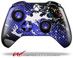 Decal Style Skin for Microsoft XBOX One Wireless Controller Halftone Splatter White Blue - (CONTROLLER NOT INCLUDED)