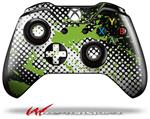 Decal Style Skin for Microsoft XBOX One Wireless Controller Halftone Splatter Green White - (CONTROLLER NOT INCLUDED)