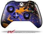 Decal Style Skin for Microsoft XBOX One Wireless Controller Halftone Splatter Orange Blue - (CONTROLLER NOT INCLUDED)