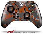 Decal Style Skin for Microsoft XBOX One Wireless Controller WraptorCamo Old School Camouflage Camo Orange Burnt - (CONTROLLER NOT INCLUDED)