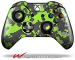 Decal Style Skin for Microsoft XBOX One Wireless Controller WraptorCamo Old School Camouflage Camo Lime Green - (CONTROLLER NOT INCLUDED)