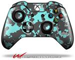 Decal Style Skin for Microsoft XBOX One Wireless Controller WraptorCamo Old School Camouflage Camo Neon Teal - (CONTROLLER NOT INCLUDED)